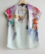 TED BAKER Size 3 (AUS 12) 'Lavande' Floral Print T-Shirt, Tee, Blouse, TOP