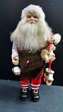 "Santa Claus Doll/Figure, 15-1/2"" Tall, Christmas Decoration"