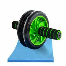 Abdominal Workout Wheel Roller Fitness Gym Exercise Strength Training + Pad