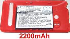 Coque Rouge + Batterie 2200mAh type RHOD100 RHOD160 Pour HTC EVO 4G