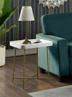 End Table Accent Sofa Side Display Lamp Stand Modern Living Room Furniture Gold