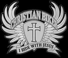 Christian Biker I ride with jesús Patch Patch XL 24,5x19,5cm - sotana Harley MC