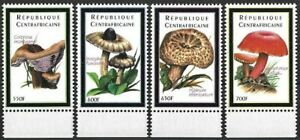 "2001 ""Central Africa"" Mushrooms, Pilze, Funghi, complete set VF/MNH! LOOK!"