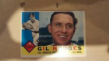 1960 Topps #295 Gil Hodges Dodgers VG/EX