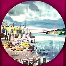 Royal Doulton Collector Plate Fishermans Wharf San Francisco Dong Kingman + Box