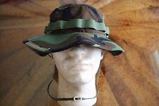 USN & FLEET MARINE WOODLAND BDU RIPSTOP CAMO COMBAT FLOPPY HAT BOONIE CAP 7 1/2