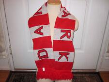 DENMARK Flag Scarf DANMARK Danish Scandinavian Red/Gray-White 100% Acrylic