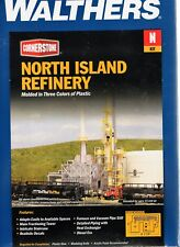 N Scale Walthers Cornerstone 933-3219 North Island Oil Refinery Building Kit