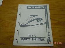 Polaris 1992 Sl650 Personal Watercraft Parts Manual B924058