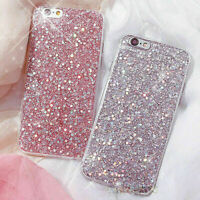 New Silicone Bling Glitter Shockproof Slim Case Cover For iPhone 6 6S 7 Plus