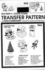 Pretty Punch Iron Transfer Patterns Punch Embroidery 944 Christmas