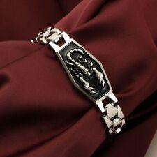 "Sign Bangle Wristband Bracelet 8"" Gift Dg Stainless Steel Scorpio Zodiac Charm"
