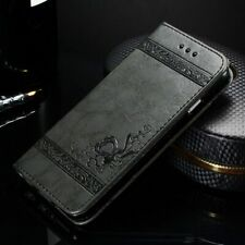 Original Leather Phone Flip Credit Card Wallet Case Cover Samsung S9 iPhone X
