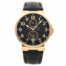 Ulysse Nardin Maxi Marine Chronometer 18k Rose Gold Mens Strap Watch 266-66/62