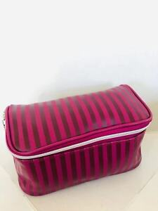 NEW LANCOME Faux Leather Case Makeup Cosmetic Bag pick up free fast shipping