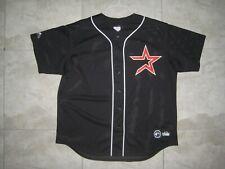Vintage HOUSTON ASTROS Star Logo BLACK MESH MAJESTIC Baseball Jersey USED XL