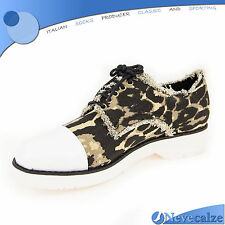 Scarpe donna sneakers mimetica con tacco basso  sfoderate leopardate  DSSCA005