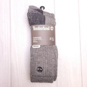 Timberland Men's Cushioned Crew Socks 2PK NEW!