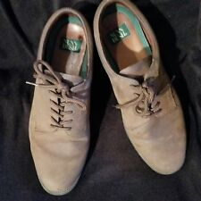 Nunn Bush Mens Shoes sz 11M Brown Oxford Suede Leather Career Casual Lace Tie
