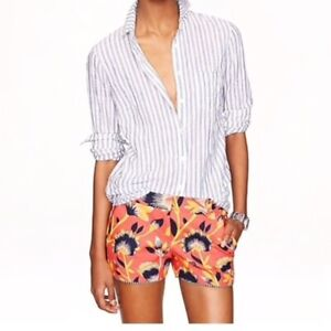 J CREW HIBISCUS FLORAL 3 In SHORT SIZE 14 NWOT