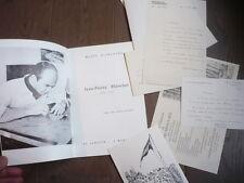 JEAN-PIERRE BLANCHET (1929-1972) PLAQUETTE BIBLIO + 5 LETTRES AUTOGRAPHE