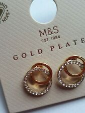 M&S Gold Plated Circle Earrings