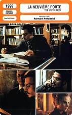 FICHE CINEMA : LA NEUVIEME PORTE - Depp,Langella 1999 The Ninth Gate