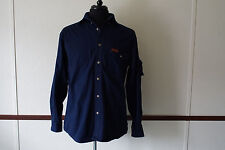 Woolrich Outdoor Guide Collection Dark Blue Camping Hunting Shooting Shirt M
