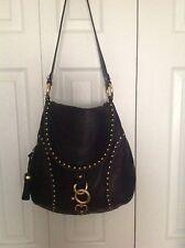 B Makowsky Women's Beautiful Black Leather Shoulder Bag Excellent Cond