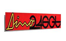Ferrari Dino 246 Metal Sign, Banner Style