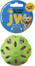 JW Pet 47014 Crackle Heads Ball Dog Toy Medium Assorted Colors