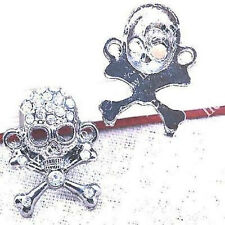 Jewellery Making Beads - Jewellery Making - 2 metal and crystal skull beads