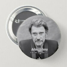 11 Pin Button Badge Ø38mm JOHNNY HALLYDAY 1x56mm / 10x38mm #1