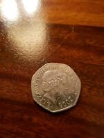50P FIFTY PENCE SHIELD 2008 COIN 4th bust of QUEEN
