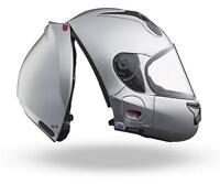 Vozz RS 1.0 Motorcycle Helmet Silver Gloss