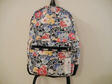 NWT LeSportsac Basic Woman Backpack Multi-color Flowers/School/Work/Travel/$110