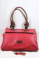 VALENTINA Red Pell Leather Tote Shoulder Purse Handbag Italy