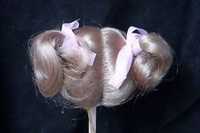 Monique Doll Wig Kitty 8-9 - Blonde - Sweet Pigtails & Ribbons Reborn / Toddler
