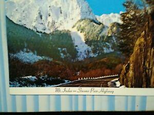VINTAGE BEAUTFUL POST CARD MT.INDEX STEVENS PASS HIGHWAY WASHINGTON