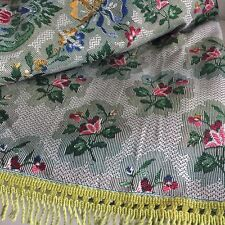 MADE in SPAIN Oriental Bedspread With TAGS Blanket FLORAL Fringe