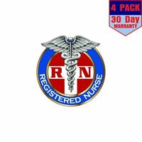 Registered Nurse Rn 4 4 Stickers 4x4 Inches Sticker Decal