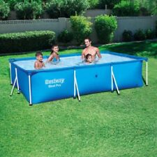 "Swimming Pool Metal Frame 118"" x 79"" x 26"" Family Water Splash Backyard Pools"