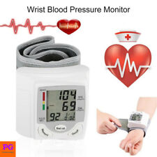 Automatic Digital Wrist Blood Pressure Monitor LCD Display Heart Beat Rate Meter
