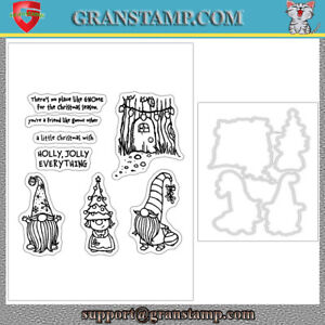 GNOME FOR THE HOLIDAYS Cutting Dies and stamps DIY Scrapbooking Card