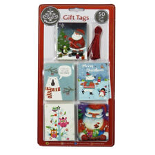 Luxury Silver Foiled Christmas Gift Tags - Colourful Cute - Pack of 50