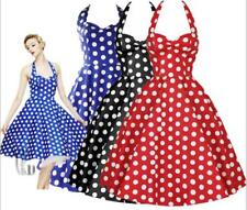 AU STOCK 50'S 60'S VINTAGE ROCKABILLY RETRO SWING POLKA DOT COTTON DRESS DR186
