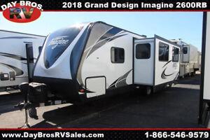 18 Grand Design Imagine 2600RB Travel Trailer Towable RV Camper Slide Sleeps 4
