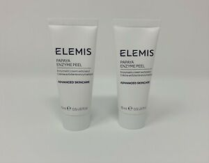 NEW Lot of 2 Elemis Papaya Enzyme Peel Tubes 0.5 Oz. each Travel Szs
