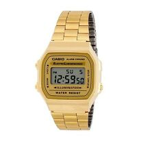 CASIO Collection A168WG-9WDF,Uhr,Illuminator,digital retro vintage,goldfarben