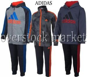 NEW ADIDAS BOYS 2 PIECE ACTIVE WEAR SETS! NEW STYLES AND COLORS! VARIETY!